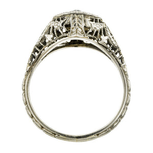 Vintage Filigree Engagement Ring, RBC 0.15ct:: Doyle & Doyle