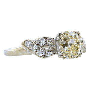 Vintage Engagement Ring, Old Mine 1.29ct::Doyle & Doyle