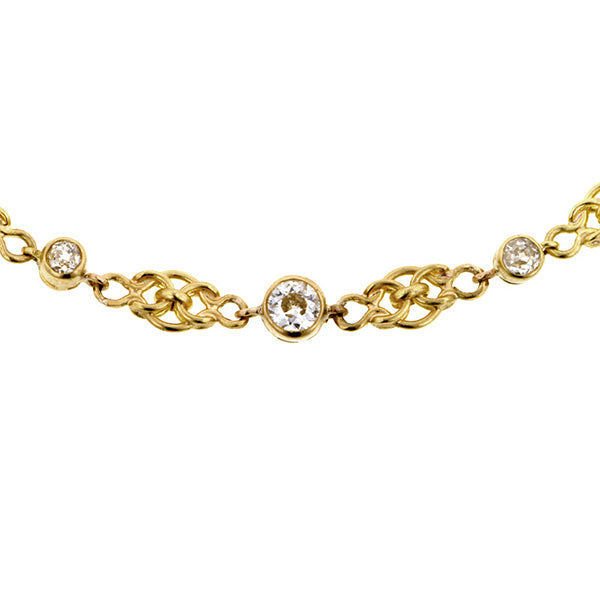Vintage Diamond Fancy Link Chain::Doyle & Doyle