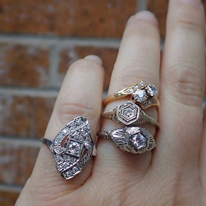 Art Deco and vintage engagement rings from Doyle and Doyle 107102R_107015R_107009R_104050R_IG
