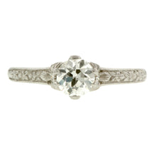 Flower Engagement Ring, Old Euro 0.58ct