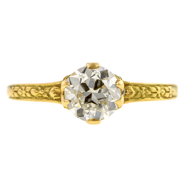 Old European Diamond Flower Engagement Ring -Heirloom by Doyle & Doyle