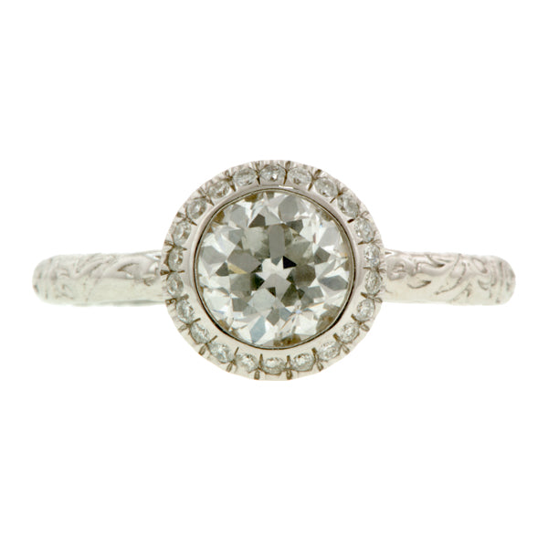 Diamond Frame Engagement Ring, Old Euro- Heirloom by Doyle & Doyle