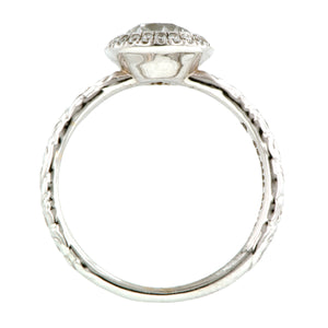 Contemporary ring: a White Gold Old European Cut Heirloom By Doyle & Doyle Engagement Ring sold by Doyle & Doyle vintage and antique jewelry boutique.