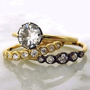 diamond solitaire engagement ring and diamond wedding bands Heirloom by Doyle & Doyle