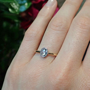 Rose Cut Diamond Solitaire Engagement Ring- Heirloom by Doyle & Doyle BE-0171-OA-8YPT