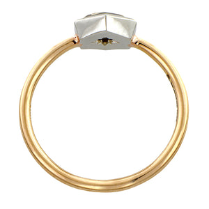 Hexagonal Step Cut Diamond Solitaire Engagement Ring- Heirloom by Doyle & Doyle