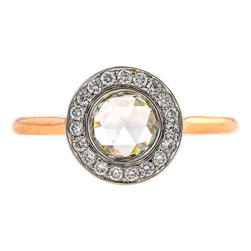 Rose Cut Round Brilliant Frame Engagement Ring- Heirloom by Doyle & Doyle