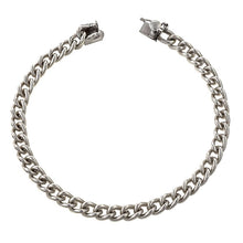 Curb Link Bracelet, a bracelet in sterling silver, Heirloom by Doyle & Doyle, sold by Doyle & Doyle vintage and antique jewelry boutique.