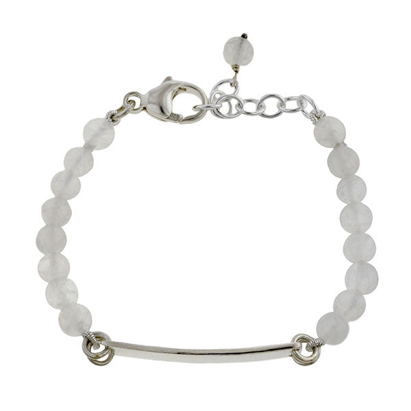 Child's ID Bracelet- Smooth Edge w/ Moonstone- Heirloom by Doyle & Doyle