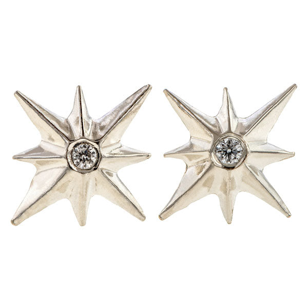 North Star Stud Earrings, West 13th Collection, Doyle & Doyle