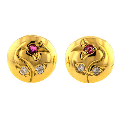 Vine Stud Earrings- Heirloom by Doyle & Doyle
