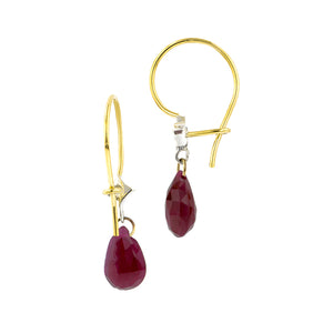 Diamond & Ruby Briolette Earrings- Heirloom by Doyle & Doyle