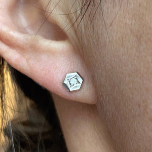 Hex Diamond Stud Earrings- Heirloom by Doyle & Doyle