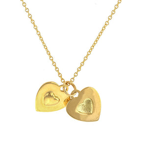 You and Me Heart Pendant Necklace