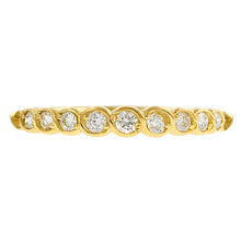 Contemporary ring: a Yellow Gold Entwined Diamond Wedding Band- Heirloom sold  by Doyle & Doyle vintage and antique jewelry boutique.