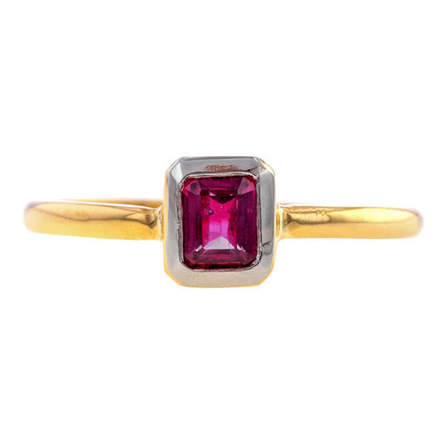 Emerald Cut Ruby Ring- Heirloom by Doyle & Doyle
