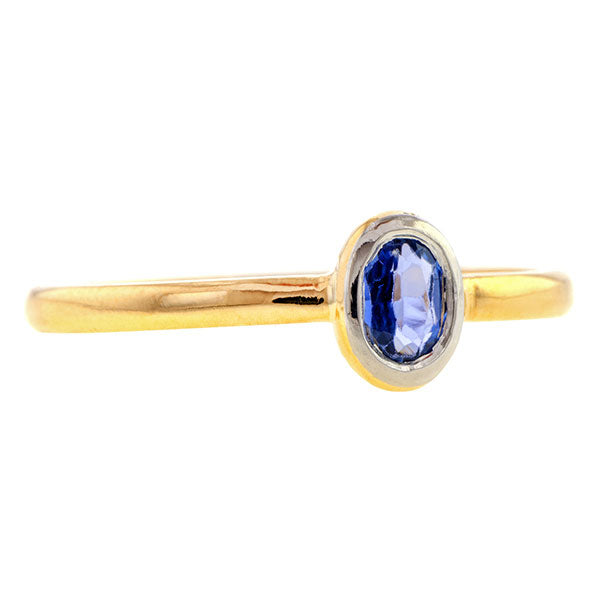 Oval Sapphire Ring- Heirloom by Doyle & Doyle
