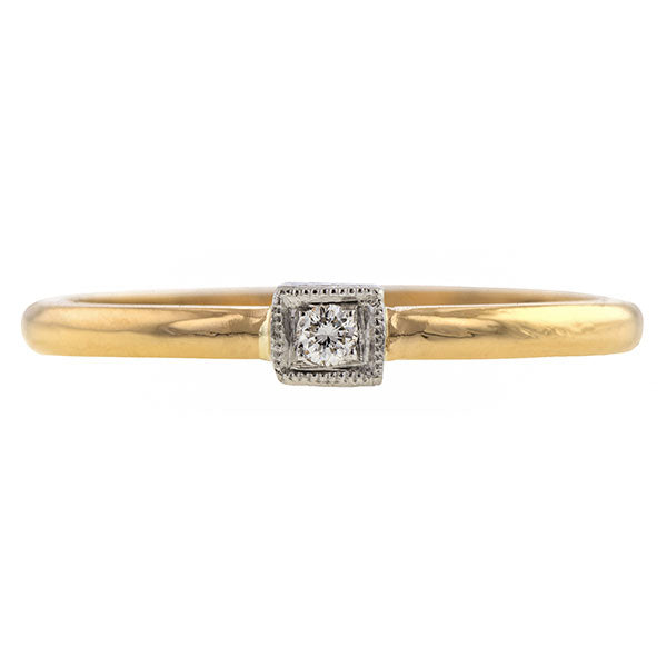 Contemporary Square Frame Diamond Band Heirloom sold by Doyle & Doyle vintage and antique jewelry boutique.
