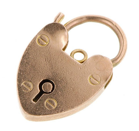 Vintage Heart Padlock sold by Doyle and Doyle an antique and vintage jewelry boutique