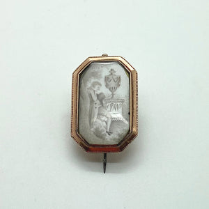 Male Mourner brooch/pendant