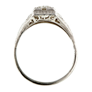 Art Deco Engagement Ring, TRB 0.95ct Doyle & Doyle