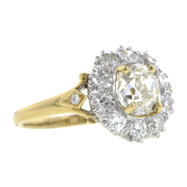 Vintage Diamond Cluster Ring, Old Mine 0.98ct:: Doyle & Doyle