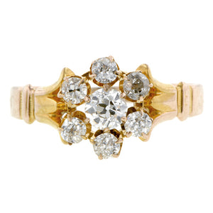 Antique Diamond Cluster Ring, Old Euro 0.23ct :: Doyle & Doyle