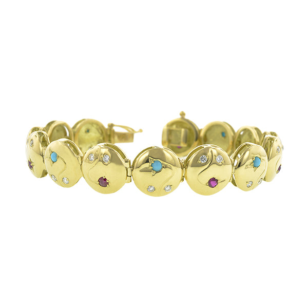 Vine Button Bracelet- Heirloom by Doyle & Doyle