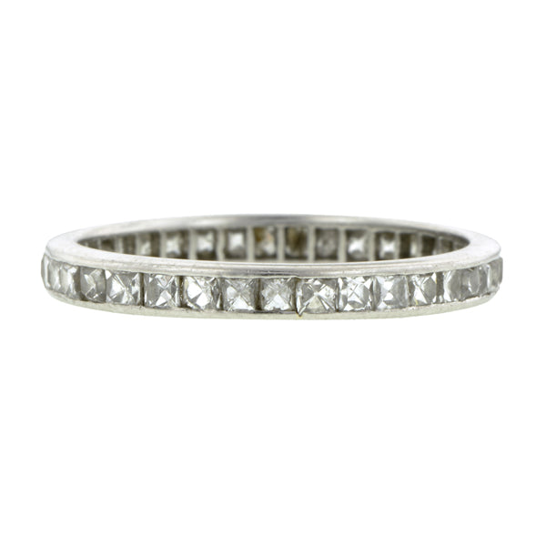 Vintage French Cut Eternity Band::