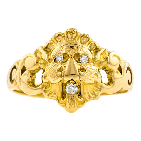 Antique Lion Diamond Ring:: Doyle & Doyle