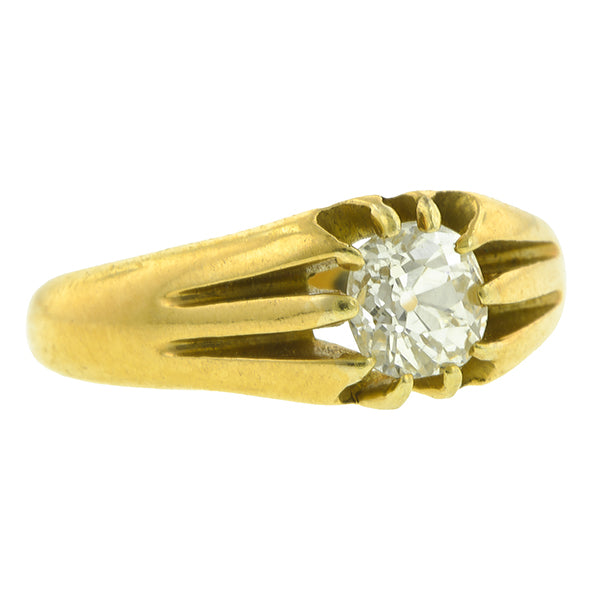 Antique Solitaire Engagement Ring; Old Euro; 0.64ct:: Doyle & Doyle