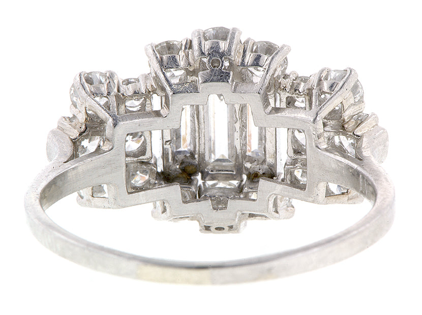 Baguette & Diamond Platinum Ring :: Doyle & Doyle