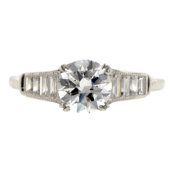Vintage Diamond Engagement Ring, TRB 0.92ct::Doyle & Doyle
