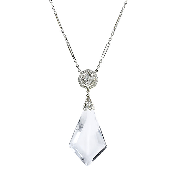 Art Deco Crystal & Diamond Necklace