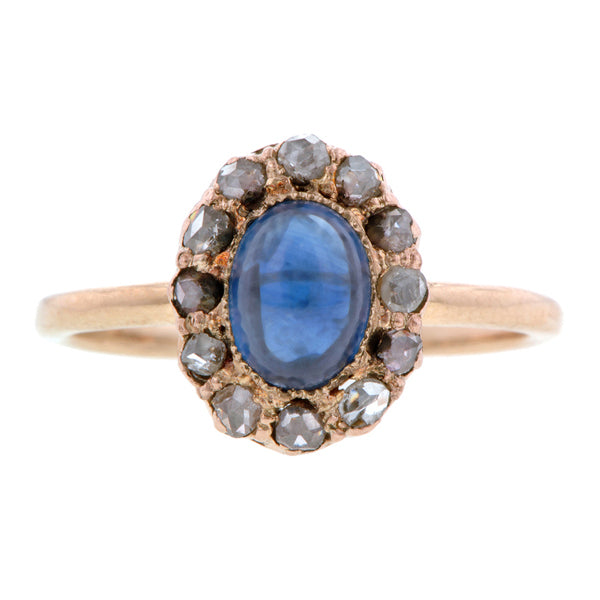 Antique Sapphire & Diamond Ring:: Doyle & Doyle