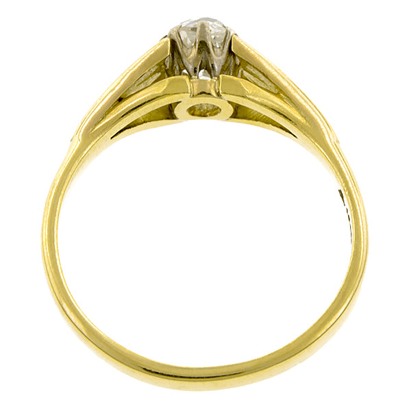 Vintage Diamond Solitaire Ring, Old Mine 0.60ct :: Doyle & Doyle