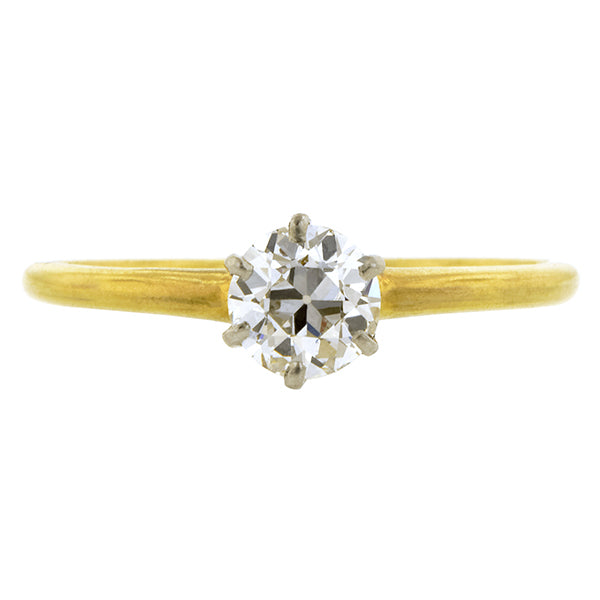 Antique Diamond Solitaire Engagement Ring, 0.51ct