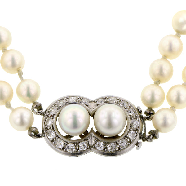 Double Strand Pearl Necklace:: Doyle & Doyle