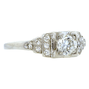Vintage Diamond Engagement Ring, TRB 0.34ct:: Doyle & Doyle
