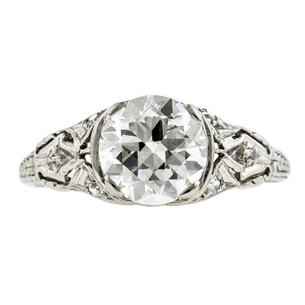 Art Deco Engagement Ring, RBC 1.55ct:: Doyle & Doyle