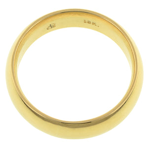 Contemporary ring: a Yellow Gold 18k Comfort Fit Wedding Band Ring, 6mm sold by Doyle & Doyle vintage and antique jewelry boutique.