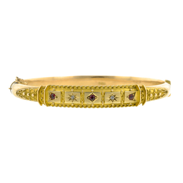 Antique Ruby & Diamond Bracelet