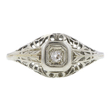 Art Deco Diamond Filigree Ring, OE 0.06ct :: Doyle & Doyle