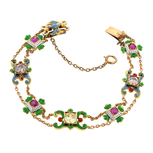 Antique Diamond & Enamel* Bracelet
