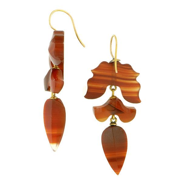 Victorian Agate Drop Earrings