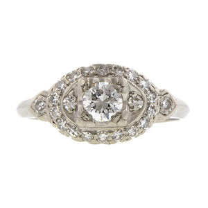 Vintage Diamond Engagement Ring, TRB 0.30ct::Doyle & Doyle