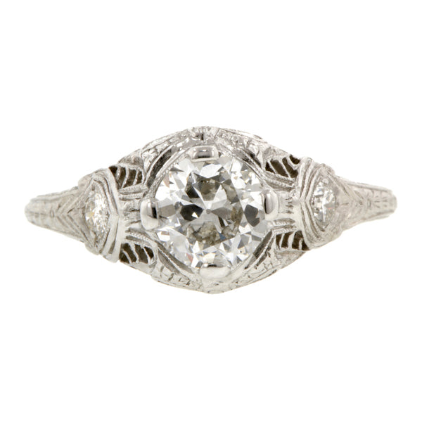 Edwardian Engagement Ring, Old Euro 0.71ct