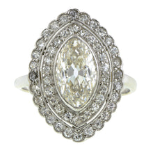 Edwardian Marquise Diamond Framed Ring, MRQ 1.85ct:: Doyle & Doyle