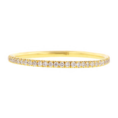 Yellow Gold, Round Brilliant Diamond Set Wire Eternity Band sold by Doyle & Doyle vintage and antique jewelry boutique